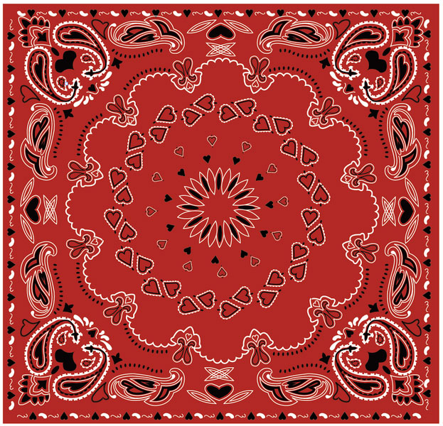Bandana Heart Vector Pattern illustration
