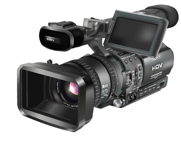Free HDR-FX1 Video Camera Vector illustration