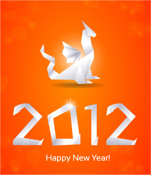 Free New Year Vector Greeting Card illustration