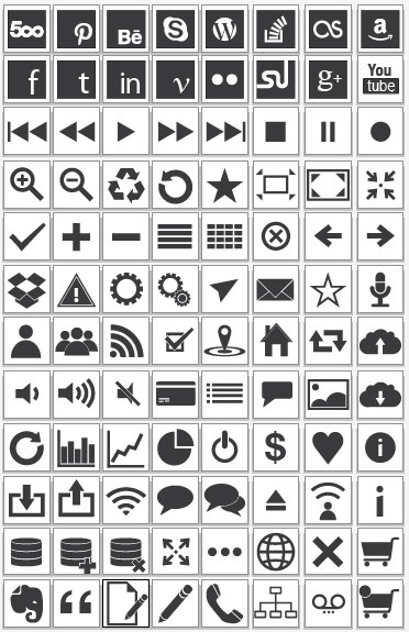 96 Vector Icons illustration
