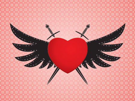A mighty Heart Vector illustration