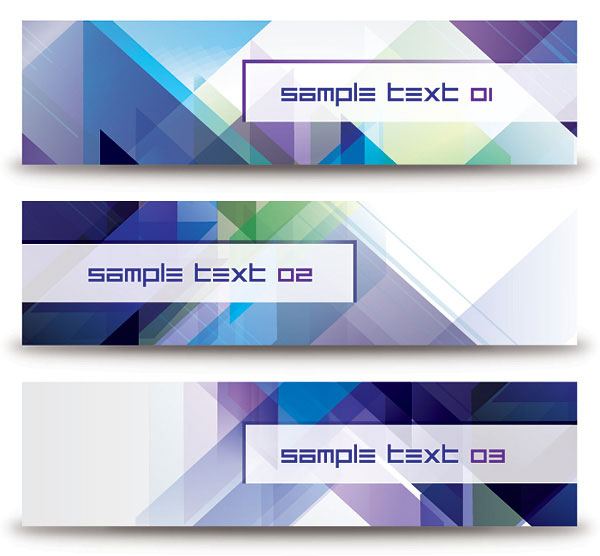 Abstract Diagonal Banners Vector Illustration