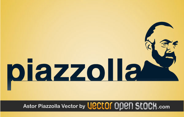 Astor Piazzolla Vector illustration