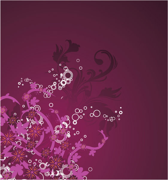 Beautiful purple floral background illustration
