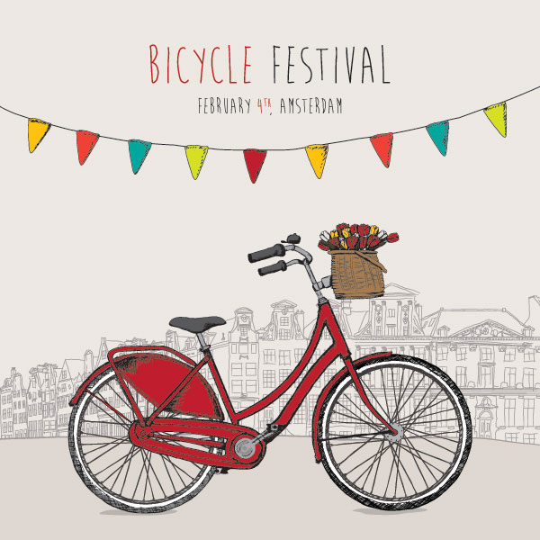 Bicycle Festival Vector Illustration