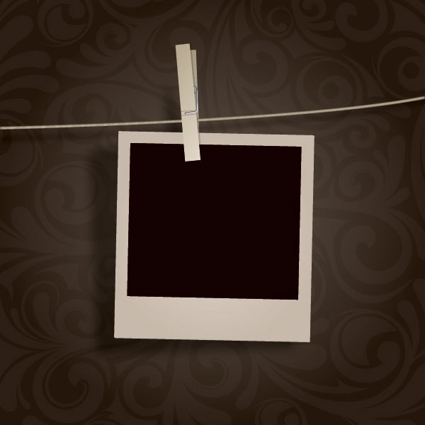 Blank Photo Hanging Vector Illustration