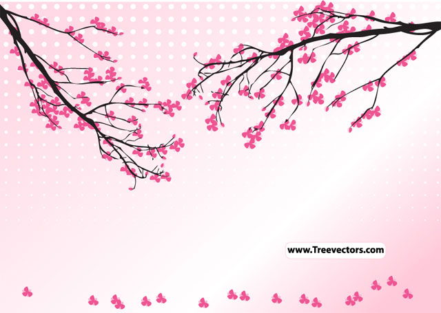 Blossom Tree Vector Illustration illustration