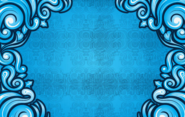 Blue Swirl Background illustration