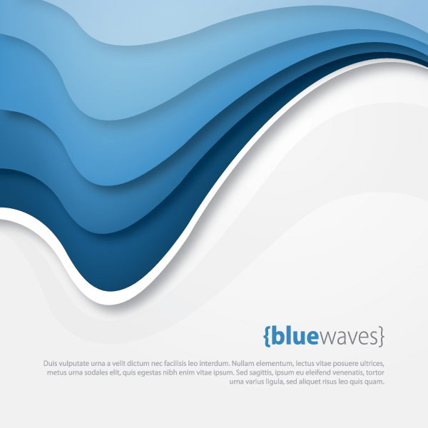 Blue Waves Vector Illustration