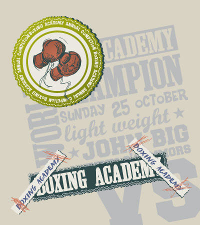 Boxing Academy Vector illustration