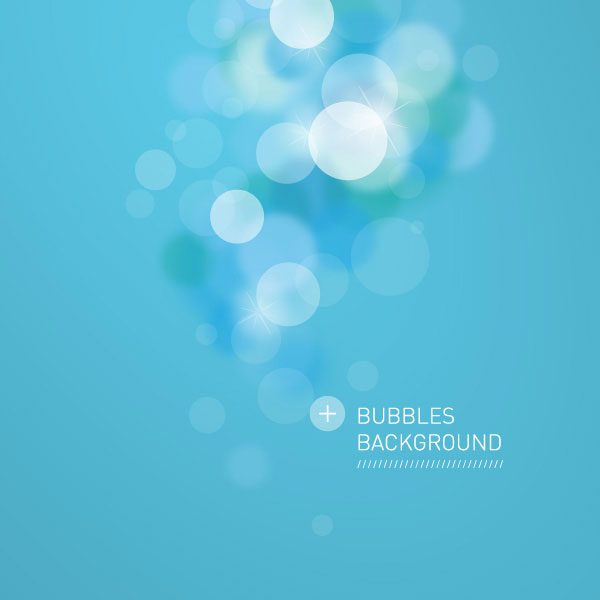 Bubbles Background Vector Illustration