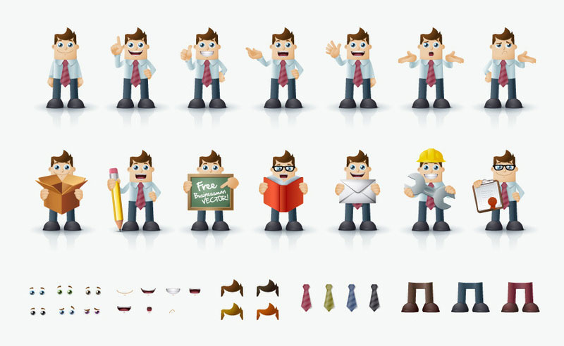 Business Man Vector Characters illustration