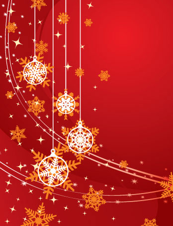 Christmas Background Red Vector Illustration