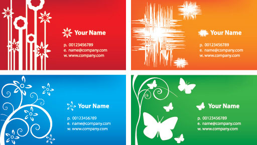 Colorful Business Cards Vector Illustration