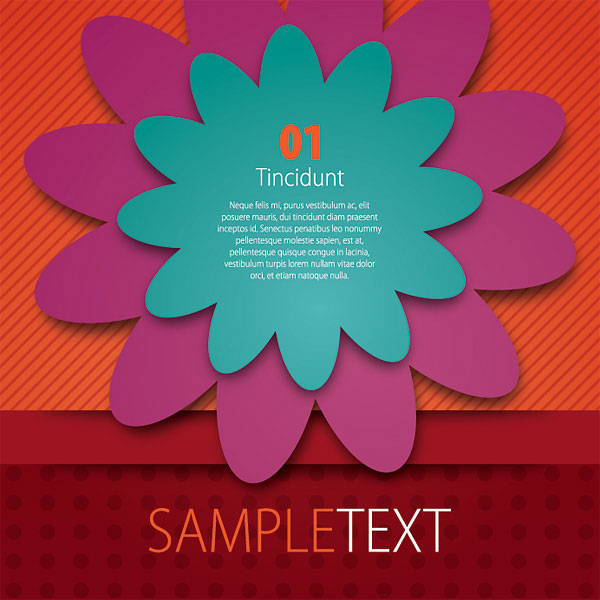 Colorful Flyer Design Vector Illustration