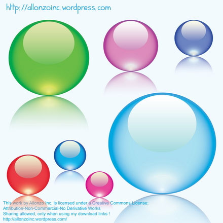 Colorful Glass Marbles illustration