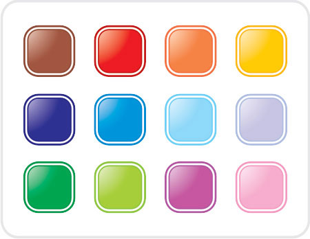 Colorful buttons Vector illustration