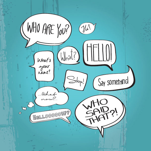 Comic Book Speech Bubbles Vector Graphic