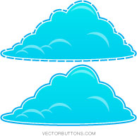 Cool Blue Fluffy Clouds illustration