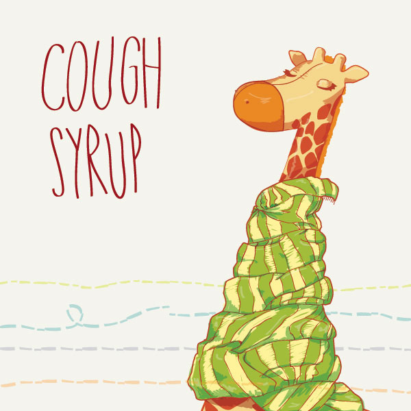 Cough Syrup Character Vector Illustration