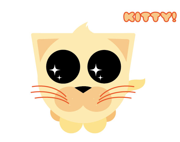 Cute Orange Kitty illustration