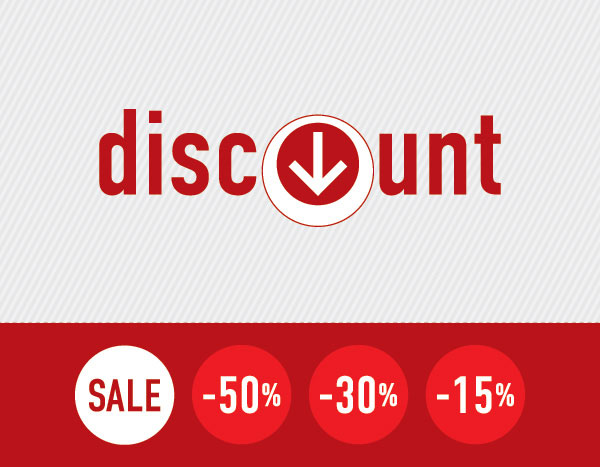 Discount Signs Vector Illustration