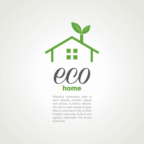 Eco Home Vector  Illustration