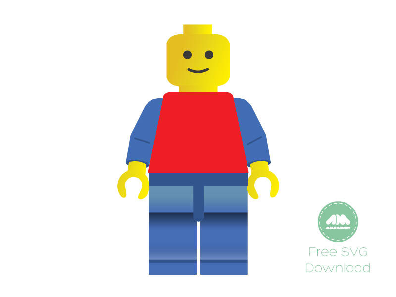 Free SVG Lego Vector Man illustration