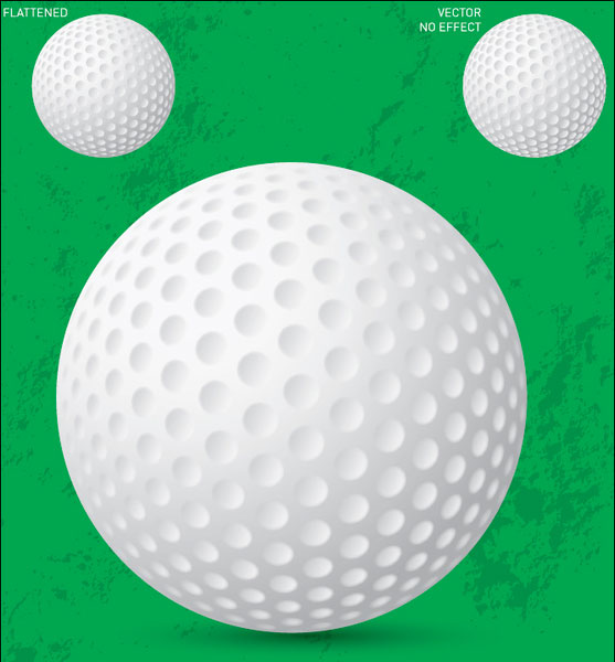 Free Vector Golf Ball illustration