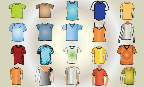 Free Vector T-Shirt Template  illustration