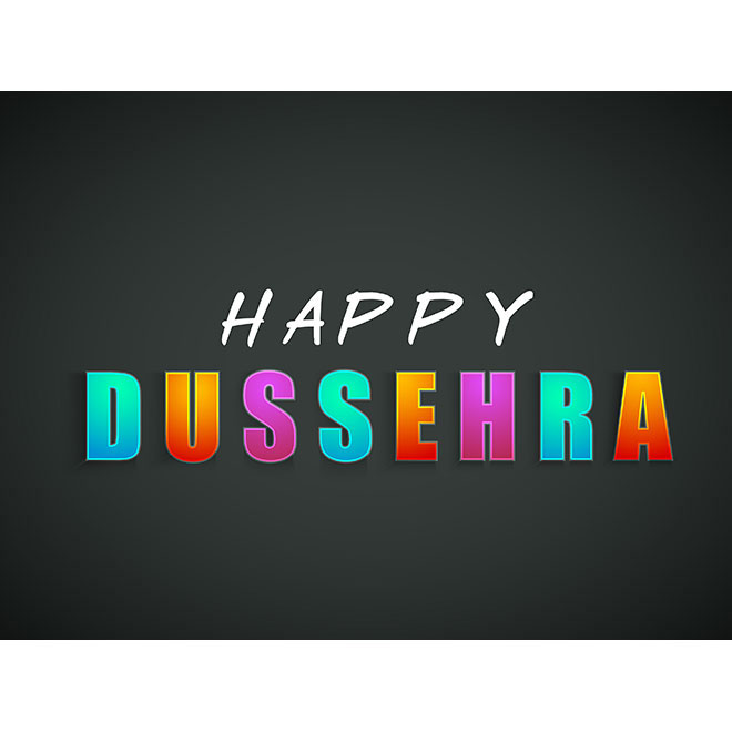 Free Vector happy Dussehra colorful typography Greeting card illustration
