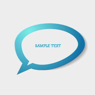 Free Vector of the Day  Simple Chat Bubble illustration