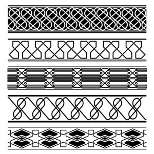 Free Vintage Ancient Border Vector Collection illustration