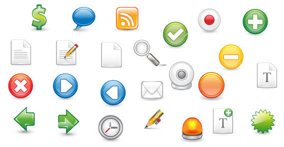 Free Web 2.0 Icons illustration