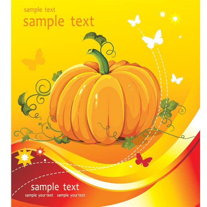 Free vector Big pumpkin brochure title page illustration