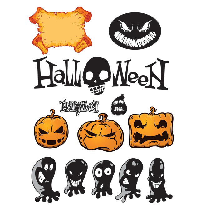 Free vector happy Halloween wallpaper design elements illustration
