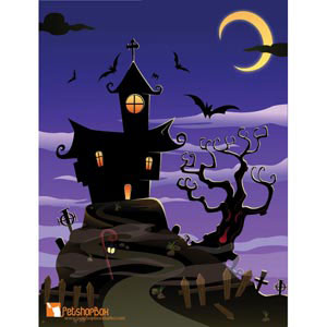 Free vector of Halloween hunted Spooky House illustration