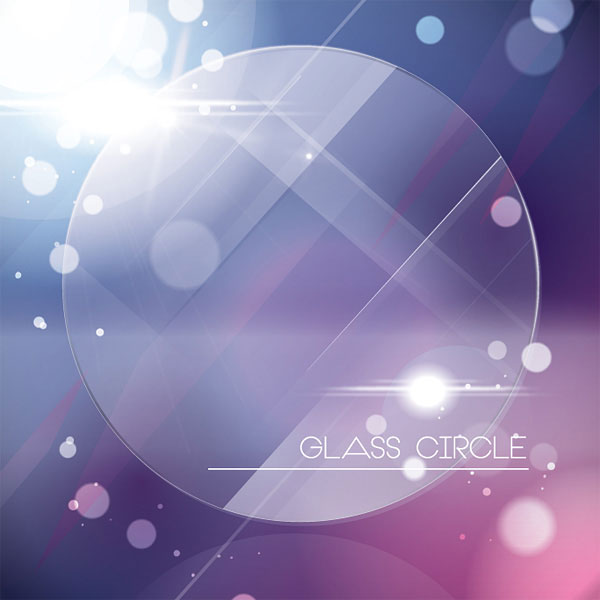 Glass Circle Vector  Illustration