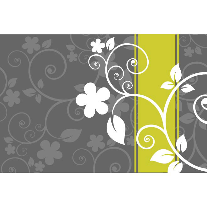 Gray Floral art background on title page Vector illustration