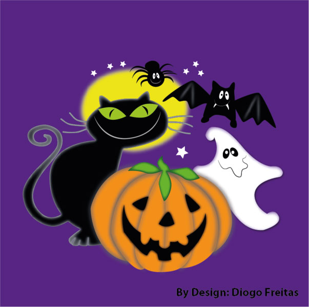 Halloween Vectors  Gato preto illustration
