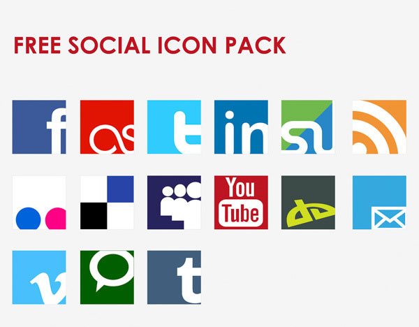 Icon Vector Social Network Set illustration