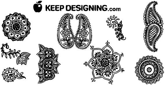 Indian Henna Designs illustration