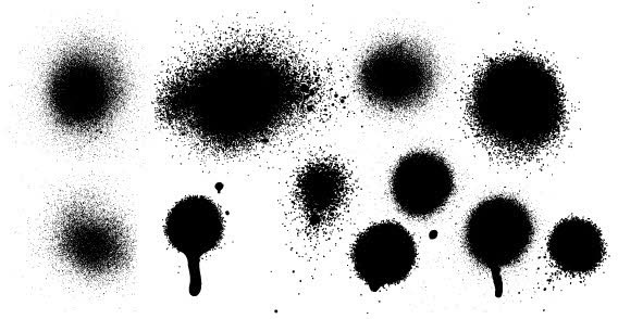 Ink Spray Vector illustration