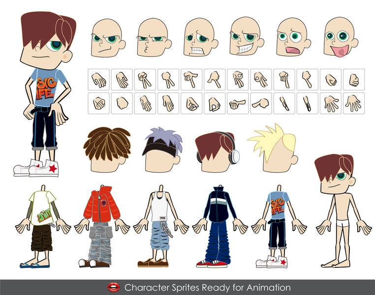 MALE Vector Characters  ai & eps formats illustration