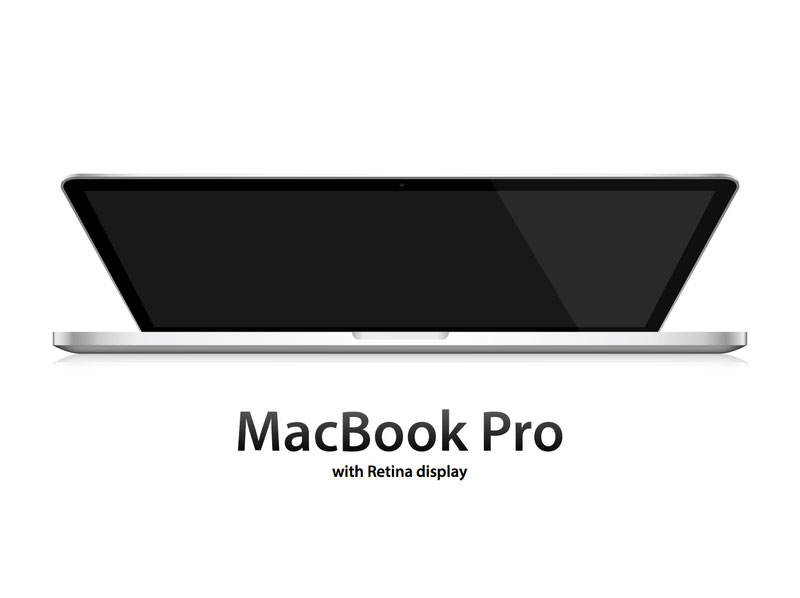 MacBook Pro with Retina display illustration