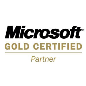 Microsoft Gold Partner logo illustration