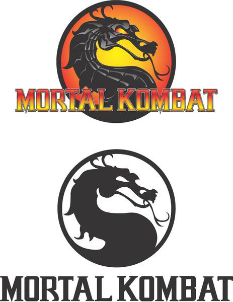 Mortal Kombat Logo illustration