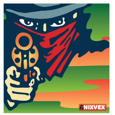 NixVex Stick em up Free Vector illustration