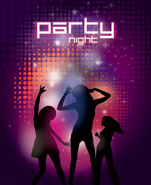 Party Night Vector Illustration