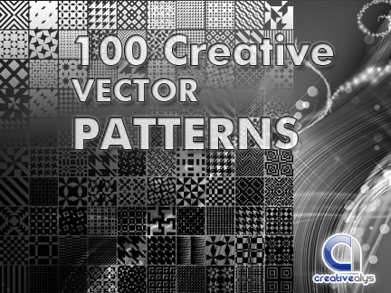 Pattern Vector Pack of 100 Creative Design Pattern Vectors illustration